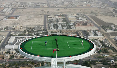 Burj Al Arab: Tennis Court in the Sky! | DesignVerb!
