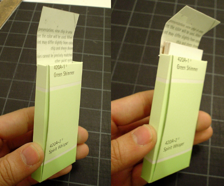 Paint Chip Business Card Holder