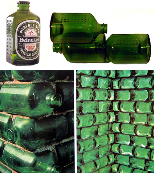 Heineken wobo glass bottle to brick sustainable concept