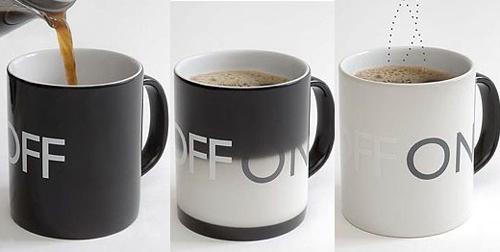 on off coffeee mug
