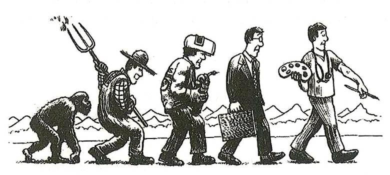 social evolution of man